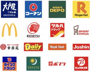楽天スーパーポイント加盟店(一部)