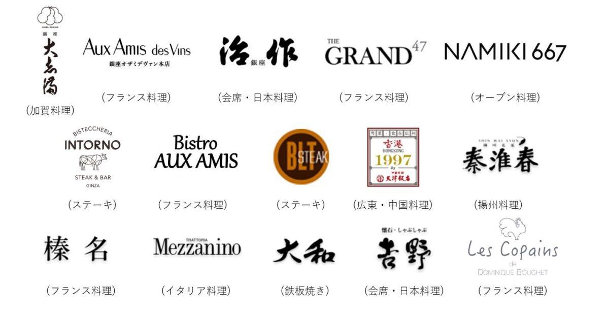 PRTIMES-ダイナースクラブ銀座レストランウィーク2021Spring参加店